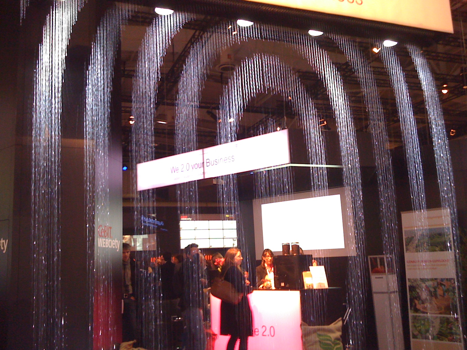 Wasserfall Cebit 2010 - Webciety