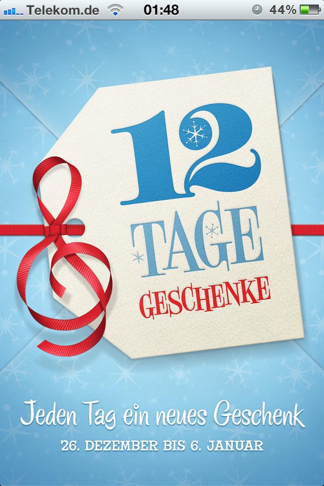 """Die """"12 Tage"""" App – Jetzt installieren und auch nach Weihnachten noch Geschenke bekommen!"""