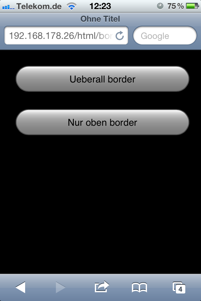 Button border-radius Bug im iOS